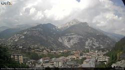 Webcam vista su Oulx e Monte Seguret 2926 m.